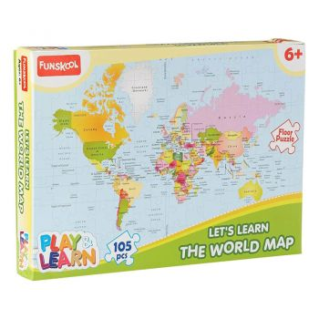Funskool Play & Learn World Map Puzzles