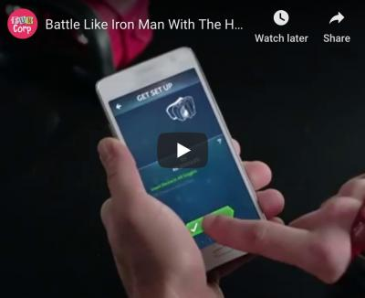 Battle like Iron Man with the Hero Vision Iron Man AR Experience!